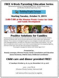Free 6-Week Parenting Education Series