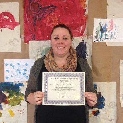 Alyssa Kelly Completes Vermont Child Care Apprenticeship Program