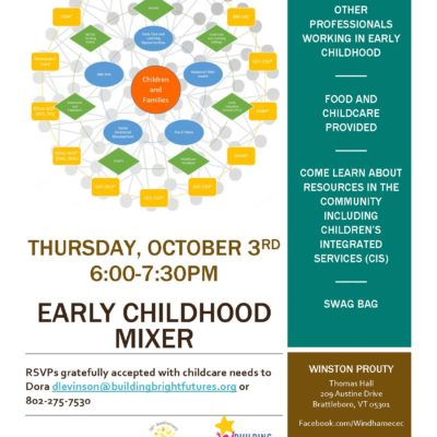 Early Childhood Mixer – October 3rd