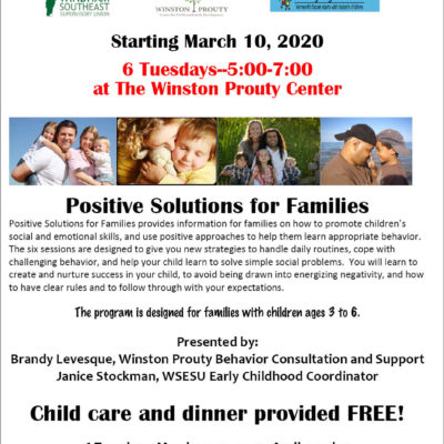 Positive Solutions for Families – free parenting class