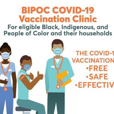 BIPOC Vaccine Clinic in Brattleboro April 10