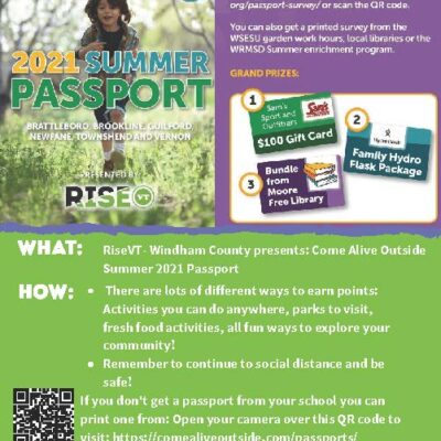 RiseVT and Vermont Department of Health Brattleboro presents a fun scavenger hunt at the Retreat Farm